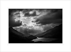 Across Loch Leven (tkimages2011) Tags: water loch sunburst sun clouds outdoors highlands scotland landscape mono monochrome leven