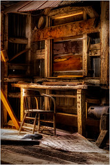 Lots of character in old wood. (ronnymariano) Tags: wood furniture color colorimage old colors character rundown ruralscene brown woodmaterial rich 2017 chair indoors cabin abandoned barn timber bodie rustic house weathered builtstructure desk antique obsolete oldfashioned industry colourimage bridgeport california unitedstates us