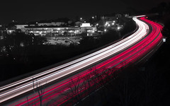Highway (mahmoudchakrane) Tags: highway longexposure lights car cars red fr frenchriviera côtedazure france night nikon