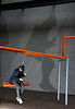 swing shadow colour (suzannesullivan2) Tags: swing shadow phone tate man art installation galllery blue orange jacket