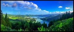 Sete Cidades (Thanks for over 2 million views!!) Tags: chadsparkesphotography azores setecidades pontadelgada mountain scenery lake sky clouds trees volcanoe extinctvolcanoe nature