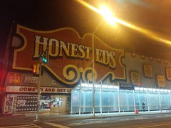 Honest Ed's at night (1) #toronto #bloorstreet #bloorstreetwest #night #abandoned #demolition #mirvishvillage (randyfmcdonald) Tags: bloorstreet abandoned mirvishvillage bloorstreetwest demolition toronto night