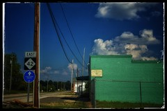 EVACUATION ROUTE (NC Cigany) Tags: 42 highway route evacuation color weather rural street nc dark blue