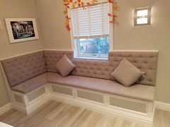 Custom Banquette  Bisquit Tufted