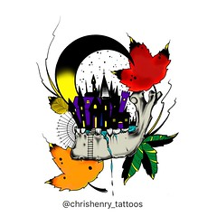 This piece is available to be tattooed. It's also available as prints,t-shirts,hoodies and stickers at, https://www.redbubble.com  Look up Chris Henry or sharkbites to find all my art that's available (Christopher Ian Henry, Tattooer.) Tags: tattooedguys tattooedgirls christopherihenry christopherhenry ideas gifts christmas nightmare northerncalifornia norcal california bayareatattooartist bayarea sanfranciscoartist sfartist tattooboogaloo procreate ipad autumn fallleaves fallcolors leafs leaves moon neotraditional redbubble flash tattoodesign design colors color fall illustration castle mandible skull inspiration halloween darkart creepy dark artist art tattooart tattooartist tattooed tattoos tattoo