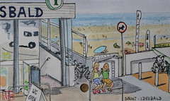 Saint-Idesbald (Coxyde, Belgique) (chando*) Tags: aquarelle watercolor croquis sketch
