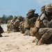 Marines conduct amphibious landing and assault drills aboard the USS Ashland during Blue Chromite 18