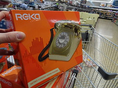 Think Gold... (stevenbrandist) Tags: telephone jimmysaville aldi shopping retro dial cord