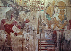 Salle funéraire (Luc Marc) Tags: afrique temple égypte intérieur pharaon murale temps art histoire personnage sallefunéraire