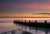 Low Tide Sunset (Sunset Snapper) Tags: lowtidesunset sunset sandypoint haylingisland hampshire southcoast uk beach sand shingle lowtide groyne clouds reflections filter lee nd grad nikon d810 seascape november 2017 sunsetsnapper