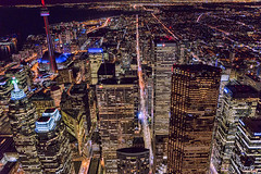 Air Toronto (TIA International Photography) Tags: toronto ontario canada downtown skyline lake skyscraper building cn tower aerial view vista perspective night metropolis urban landscape city center centre cityscape can king queen street scotia plaza bmo first canadian place td trust bay wellington royal bank cibc kpmg deloitte commercial corporation company architecture tia tosinarasi ©tiainternationalphotography