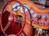 Red MG (Maureen Medina) Tags: maureenmedina artizenimages mg car auto red vintage dashboard panel instrument gauges steeringwheel classic