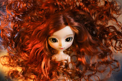 Phoenix (Virvatulia) Tags: phoenix pullip mio makeitown pullipcustom custompullip custom customized fc ooak fire redhead carrotred hair red curly wig groove doll portrait toy moniquewig feeniks