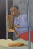 Jiayuguan Mallet (10b travelling) Tags: carstentenbrink painting oilpainting china peoplesrepublicofchina silkroad centralstmartins cmtbpainting 2017 man working mallet hammer food peanuts brittle jiayuguan gansu cmtbart