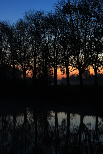 Sunrise across the moat