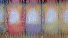 Gilberts (Andrew Malbon) Tags: window fuji xt1 fujifilm colour shopwindow condensation damp bokeh 35mm sweets panoramic transparency csc portsmouth southsea hampshire red purple yellow drips runs