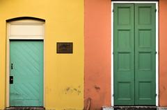 Doors of Color New Orleans (Darren LoPrinzi) Tags: 2016 5d canon5d urban canon city frenchquarter la louisiana miii neworleans neworleanstrip2016 nola door doors colors colorful architecture architectural teal yellow orange green blue turquoise texture