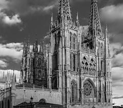 Catedral de Burgos (lgonzaloro) Tags: catedral burgos alfoz de castilla y león monastery cathedral monument christianity religious spain city medieval catholic religion tourism gothic church building sky tower architecture edificio cielo torre arquitectura blackandwhite