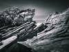 Zion Sandstone - Duotone (byron bauer) Tags: byronbauer sandstone formation zion vista landscape utah zionnationalpark painterly texture topaz simplify blackwhite bw monochrome duotone toned strata rock mountain