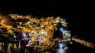 Noche cerrada en Manarola, Cinque Terre