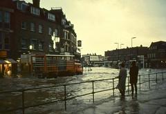 Lewisham flood 1968 United Dairies  Bedford TK . (Ledlon89) Tags: lewisham london southeastlondon 1968 1960s transport flood water rain weather quaggy riverquaggy lee buses coach bedford lorry bedfordtk uniteddairies milk