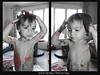 twins are crazy (fred bmx mairet) Tags: paint painting peindre baby babys girl boy bw portrait face child children childness enfance jumeaux twins nikon d750