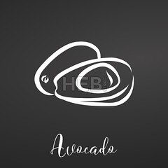 Avocado Illustration on Backboard (Hebstreits) Tags: art avocado background black blackboard chalk chalkboard collection color design doodle drawing drawn farm food fresh fruit fruits garden graphic hand healthy icon illustration image isolated juicy kitchen leaf line monochrome natural nature object organic poster sketch style summer sweet template vector vegetarian white