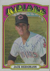 1972 Topps - Jack Heidemann #374 (Shortstop) - Autographed Baseball Card (Cleveland Indians) (Treasures from the Past) Tags: 1972 topps 1972topps baseball cards baseballcard vintage auto autograph graf graph graphed sign signed signature clevelandindians jackheidemann shortstop