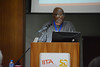 Friday Ekelem speaking on new innovations in cassava weed management (IITA Image Library) Tags: research r4d r4dweek2017 agriculture cassava manihotesculenta weedmanagement africa iita