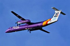 G-JEDR FLYBE DASH 8 NRECASTLE (toowoomba surfer) Tags: airline airliner aviation aircraft aeroplane ncl rgnt
