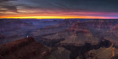 Grand Canyon Evening (Vision & Light Photo) Tags: nationalpark grandcanyonnationalpark overlook nature outdoors fineart photograph landscape wilderness beauty clouds cloudscape vista sky photography sunset photo scenic color scenery landscapes peaceful fineartphotography grandcanyon canyon arizona southwest hopipoint southrim rugged westernrim dusk river coloradoriver pastel pink horizontal panorama panoramic