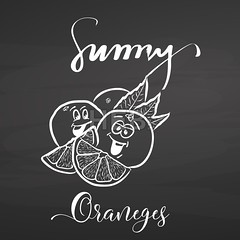 Sunny oranges with lettering on chalkboard (Hebstreits) Tags: art background black blackboard chalk chalkboard citrus closeup collection delicious design diet doodle drawn food fresh fruit fruits graphic hand handdrawn health healthy illustration image isolated juice juicy lemon lettering natural nature object orange organic set sketch slice summer sunny sweet typo vector vegetarian vitamin white
