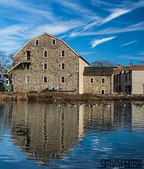 Reflections of Blue Skies (SMPhotos2548) Tags: museum hunterdon clintonnj clinton river reflection blue blueskies nj newjersey artmuseum ducks clouds