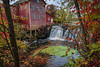 History repeats itself (FJMaiers) Tags: dellsmill wisconsin augusta mill autumn fall bridgecreek gristmill historic d5300 nikon historicbuildings museum pond landmark leaves duckweed waterwheel waterfall