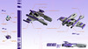 PURPLE FURY (Xavier CLEMENT) Tags: purple fury ship space spaceship vic vicviper vv novvember lego espace vaisseau