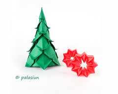 P71201-144136m (polelena24) Tags: origami christmas tree firtree star spruce corrugated