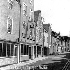 Market Street (Maintained by Matthew Bigwood) Tags: briancandy wottonunderedge monochrome 35mm film snow 1963 gloucestershire briancandyphotographicarchive