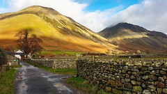Wasdale Head and Great Gable (mandysp8) Tags: cumbria uk thelakedistrict nationaltrust mountains countryside sunlight wasdale greatgable panorama