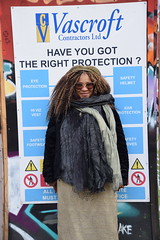 DSC_4772 Shoreditch London Great Eastern Street Artwork Have You Got the Right Protection? with Nikkie from Philadelphia (photographer695) Tags: shoreditch london great eastern street artwork with nikkie from philadelphia have you got right protection