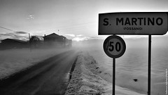 Home sweet home (Federico Fulcheri Photo) Tags: federicofulcheriphoto© italy piedmont fossano nature ice cold silence relax limit fog landscape street road home winter snow outdoors noperson blackandwhite snapseed iphone7plus iphone apple