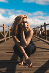 Nop (Leo P. Hidalgo (@yompyz)) Tags: playa cabo pino marbella málaga retrato bea girl blonde