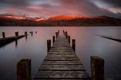 Patch of Sun, Coniston Water (Sophie Carr Photography) Tags: conistonwater piers jetties sunrise longexposure lake beautiful morninglight lakedistrict cumbria