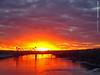 Sunset along the Missouri River, 6 Dec 2017 (photography.by.ROEVER) Tags: kansascity missouri usa sunset evening sunsetting kc kcmo river missouririver i29 i35 bridge bondbridge driving drive driverpic december 2017 december2017