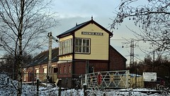 Chasewater heath station and signal box (eucharisto deo) Tags: signal box winter canock chase heath railway chasewater country park staffordshire snow gate station instantfave