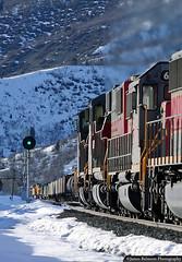 It's all downhill from here! (jamesbelmont) Tags: railway soldiersummit utahrailway unionpacific grade signal utah coal manifest grs