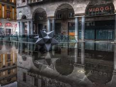 City Frames (enrikobe) Tags: water vittoria piazza reflections reflect brescia city italy