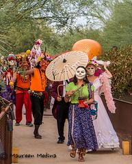 Procession Under Way (Maureen Medina) Tags: maureenmedina artizenimages dayofthedead diadelosmuertos cultural holiday mexican costume mask parade procession skull calavera