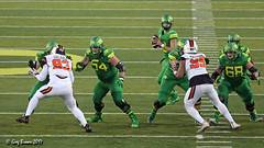 Looking upfield (C.P. Kirkie) Tags: oregonducks universityoforegon oregon civilwargame football autzenstadium collegefootball ncaacollegefootball eugene pac12 pac12football