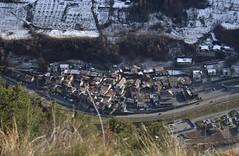 Bovernier (bulbocode909) Tags: valais suisse montchemin montagnes nature bovernier villages toits neige routes vert automne