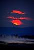 Good Night  DSC_4414 (kluehirschSnowpine) Tags: sun clouds yellowstone yellowstonenationalpark nationalpark red black geyser grandgeyser evening